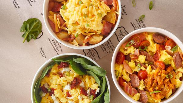 Takeaway Breakfasts in Bowls