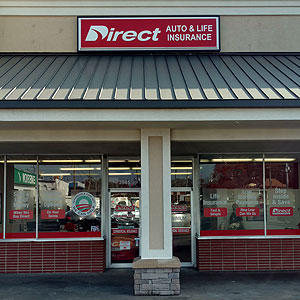 Front of Direct Auto store at 3545 Memorial Drive, Decatur
