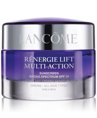 Image of Lancôme Rénergie Lift Multi Action Moisturizer Cream SPF 15 All Skin Types, 2.6 oz