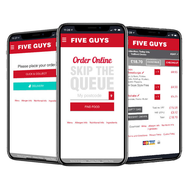 Click & Collect at Five Guys