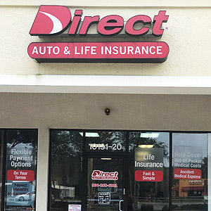 Front of Direct Auto store at 10131 San Jose Boulevard, Jacksonville