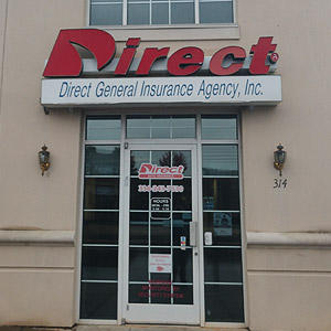 Front of Direct Auto store at 314 North Main Street, Lexington