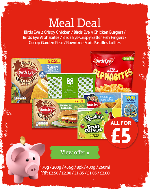 Meal Deal offer available until 21st January