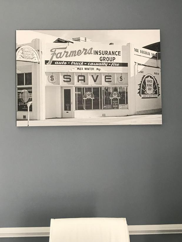 wall art of antique farmers signage