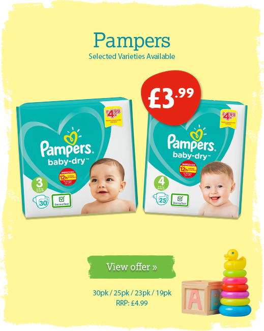 Pampers offer available until 26th May