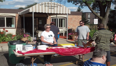 We partnered with our friends at the Crystal Village Apts for the Block Party.