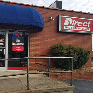 Front of Direct Auto store at 1425 Peters Creek Parkway, Winston Salem