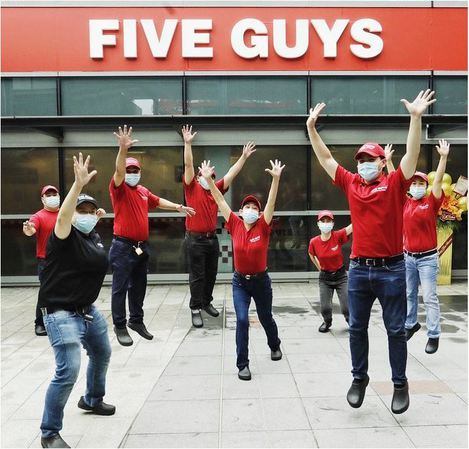 Five Guys Restaurant Burgers and Fries