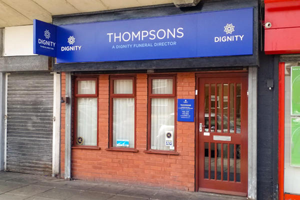 Thompsons Funeral Directors in Netherton, Bootle, near Liverpool.