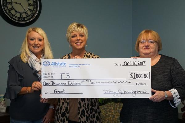 Mary Huntington - Allstate Foundation Grant for Totes for Tots and Teens