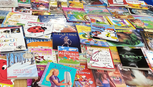Blau Agency donations purchased these books for Center Elementary students.