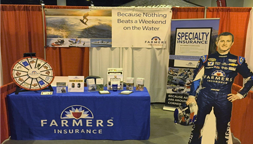Our booth at the 2015 Omaha Boat Show!