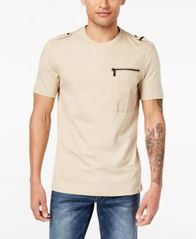 Image of Sean John Men's Zip-Pocket Flight T-Shirt, Created for Macy's