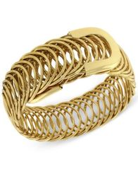 Image of 2028 Gold-Tone Belt Bracelet, a Macy's Exclusive Style
