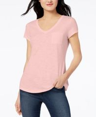 Image of Maison Jules V-Neck Patch-Pocket T-Shirt, Created for Macy's