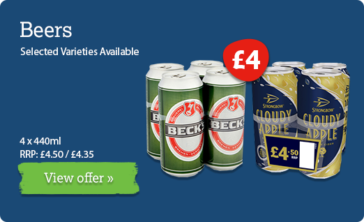 Beer & cider offer available until 3rd March
