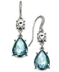 Image of Charter Club Clear & Colored Crystal Drop Earrings, Created for Macy's