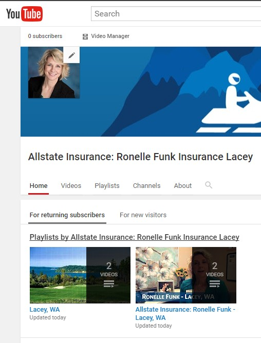 Ronelle Funk Insurance Lacey - Check Us Out on YouTube!