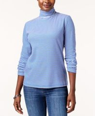 Image of Karen Scott Printed Turtleneck Top, Created for Macy's