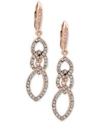 Image of Anne Klein Pavé Interlocked Link Drop Earrings