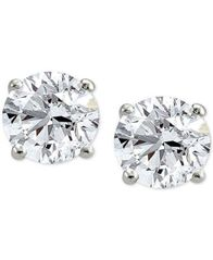 Image of Giani Bernini Cubic Zirconia 10mm Stud Earrings in Sterling Silver, Created for Macy's