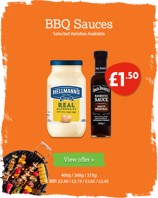 BBQ Sauce offer available until 16th June