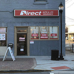 Front of Direct Auto store at 3737 Main Street, College Park