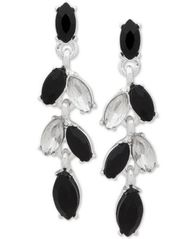 Image of Anne Klein Multi-Stone Drop Earrings, Created for Macy's