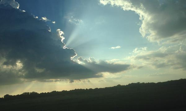 Sky between Collinsville, TX, and Whitesboro TX, on Hwy 377
