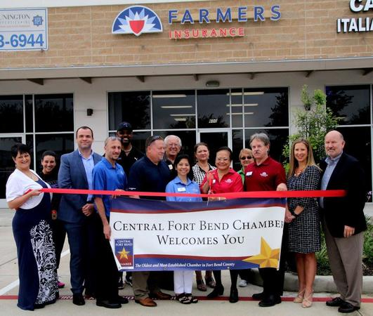 Fort Bend Chamber of Commerce sponsors  the Grand Opening   of the Fenina Mayuga Fink Agency, Inc.