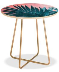 Image of Deny Designs Palms Round Side Table