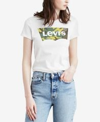 Image of Levi's® Cotton Batwing Logo Graphic T-Shirt