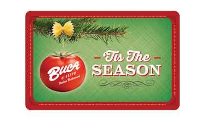 Buca di Beppo Holiday Gift Card