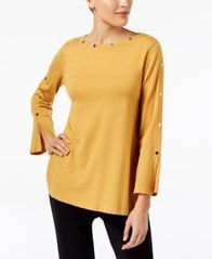 Image of Alfani Embellished Pullover Sweater, Created for Macy's