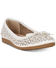 Image of Giani Bernini Odeysa Memory Foam Perforated Ballet Flats, Created for Macy's