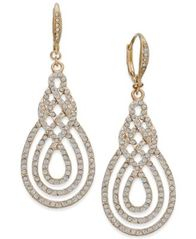 Image of I.N.C. Pavé Open Saturn Drop Earrings, Created for Macy's