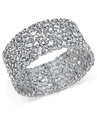 Image of I.N.C. Wide Crystal Cluster Stretch Bracelet, Created for Macy's