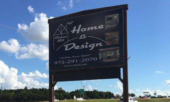 We're  located in the Cedar Hill Home & Design Center