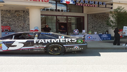 Kasey Kane's Race Car at Edward Diamond Agency- Farmers® Insurance