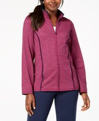 Image of Karen Scott Zip-Front Space-Dye Jacket, Created for Macy's