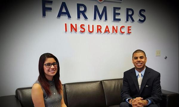 Me and Kim representing Farmers Insurance