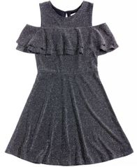 Image of Epic Threads Cold-Shoulder Skater Dress, Big Girls, Created for Macy's