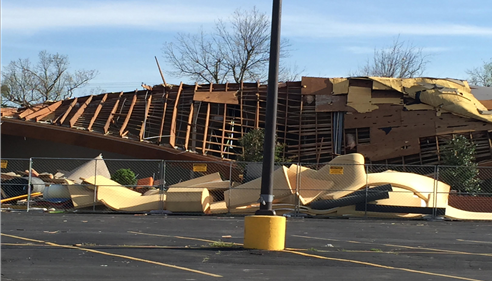 Aim High Gymnastics Academy destruction in Tulsa, OK 03/25/2015