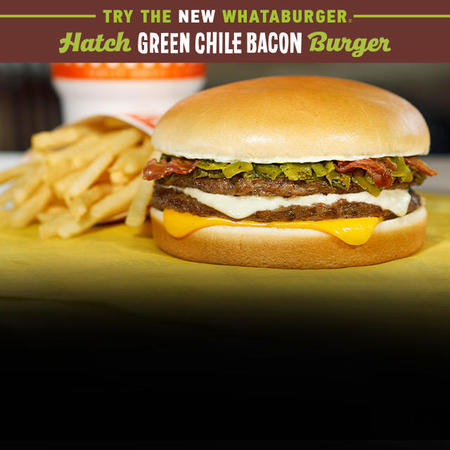 Hatch Green Chile Bacon Burger