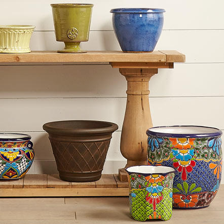 Planters and Gardening. Bring the outdoors in or start your garden early with an incredible selection of indoor and outdoor planters as well as other essentials. From handcrafted international pottery like Talavera from Mexico to fun and festive finds, you're sure to find something to bring a little sunshine to each season.