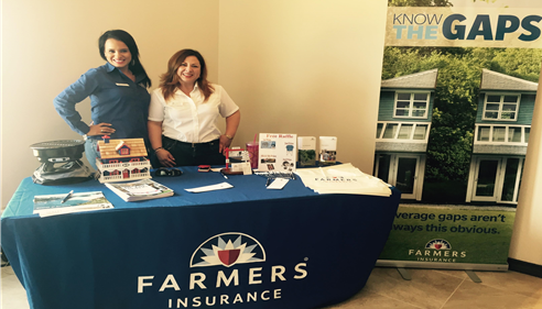 Ladies working booth for Laredo Builders Association Parade of Homes 2015.