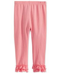 Image of First Impressions Baby Girls Ruffled-Hem Leggings, Created for Macy's
