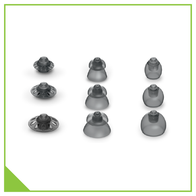 Domes for hearing aids in various sizes