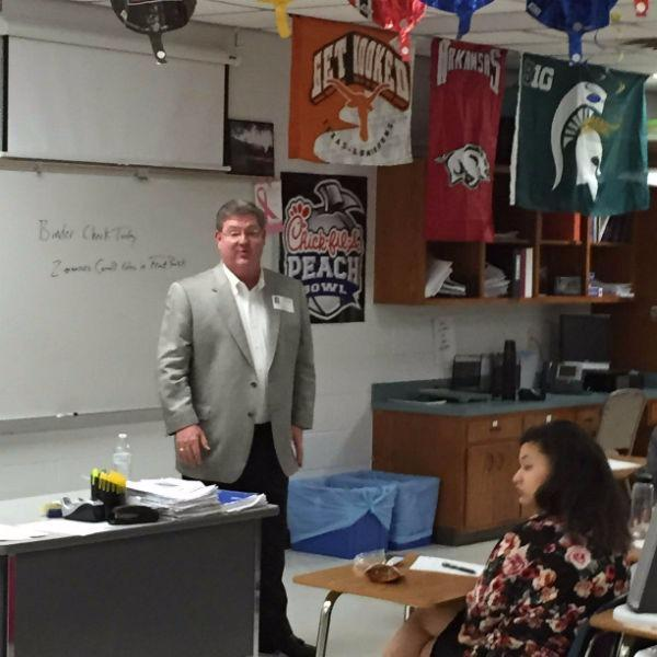 Mark Jameson - Mark Jameson Advises Burleson HS Students