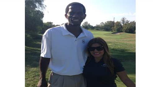 Golfing with former LA Laker A.C Green